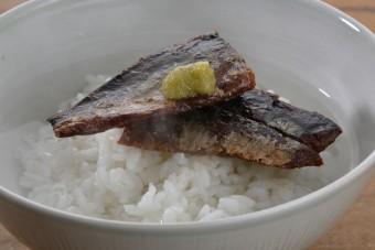 お腹に優しいヘルシー365レシピ「ニシンの甘露煮茶漬け」の出来上がり写真