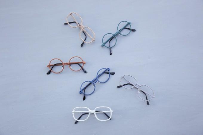 nezu(ネズ)の毛糸「ファブリックメガネ」の写真3