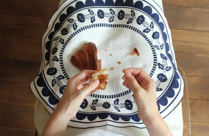 swimmie(スイミー)のハンカチ|お皿デザインの「plate -broccoli-」の写真