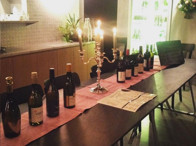 ヴィーガン料理店エイタブリッシュのオーガニックワイン