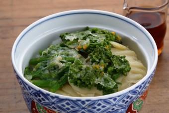 お腹に優しいヘルシー365レシピ「春の野菜の簡単天丼」の出来上がり写真