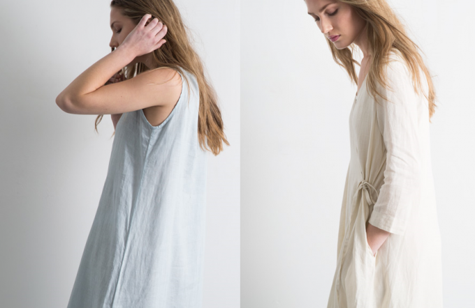 fog linen work(フォグリネンワークス)の洋服ブランド「FLW」のワンピースの写真