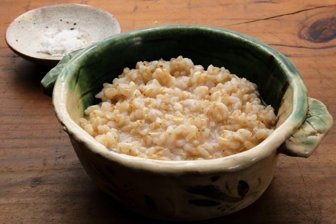 お腹に優しいヘルシー365レシピ「ヘルシー玄米粥」の出来上がり写真