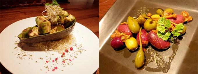 札幌Organic+のおすすめローフード「アボガドのバルサミコマリネ」