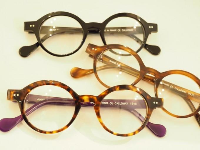 下北沢の「纒(matoi)オプティカル」の丸眼鏡の写真
