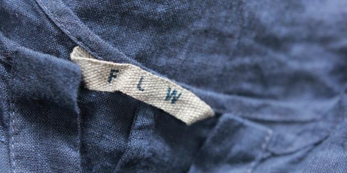 fog linen work(フォグリネンワークス)の洋服タグの写真