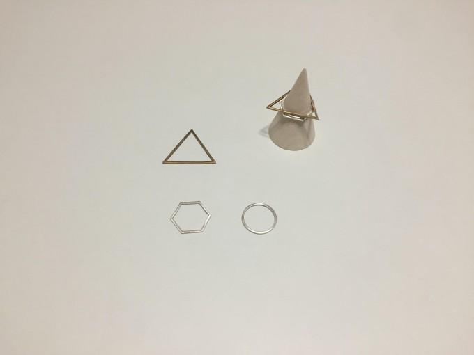 lito ao(リトアオ)のアクセサリー、真鍮のリング