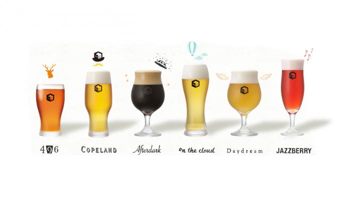 代官山SVB TOKYOの6種類ビール飲み比べ「BEER FLIGHT」