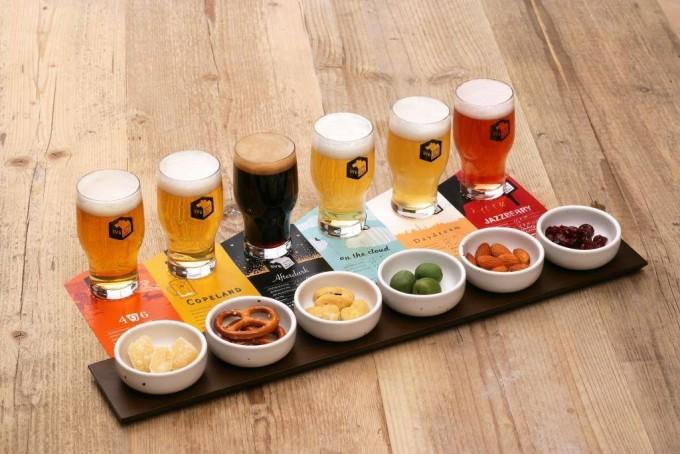 代官山SVB TOKYOのビール飲み比べセットとおつまみ