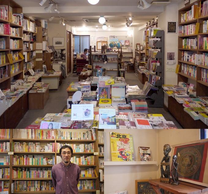 「旅の本屋のまど」の店内