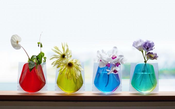 「D-BROS」の割れないビニール花瓶4種