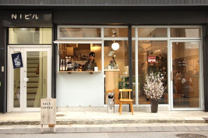 月イチ蔵前参加店「SOL'S COFFEE」の外観写真