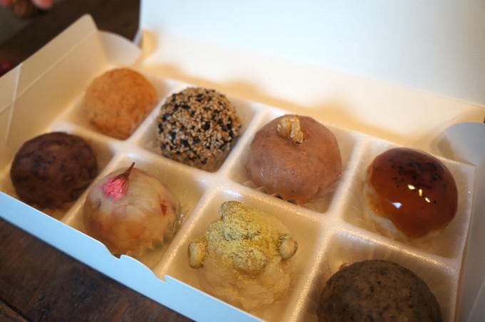 大阪府豊中市にある「森のおはぎ」のおはぎ8種