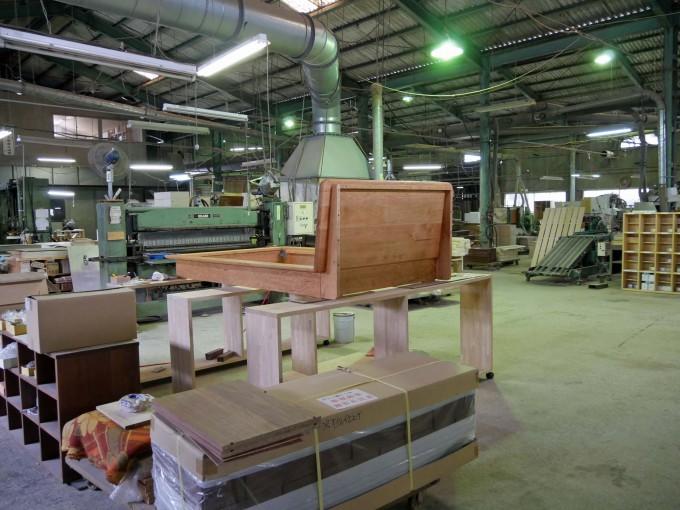 立野木材工芸がある福岡県大川市 工場