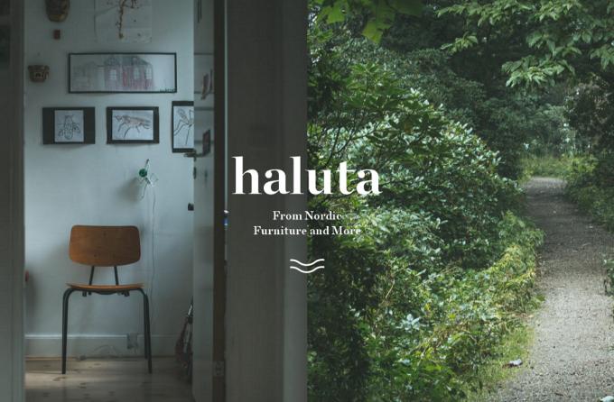 haluta(ハルタ)のヴィンテージの家具とロゴ