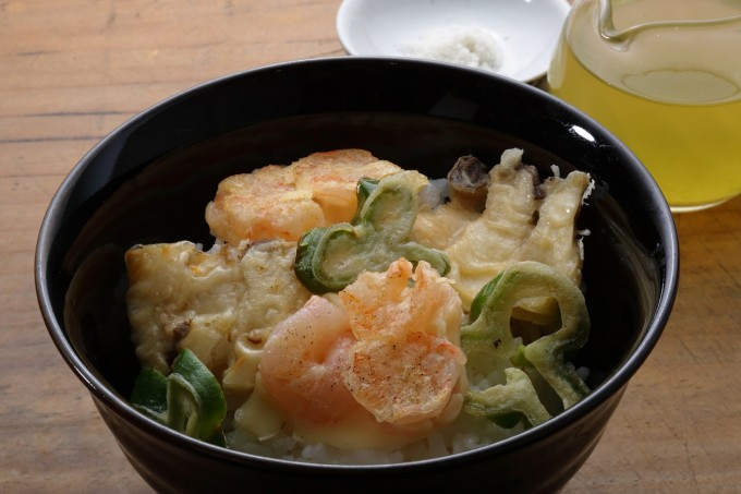 お腹に優しいヘルシー365レシピ「簡単天茶」の出来上がり写真