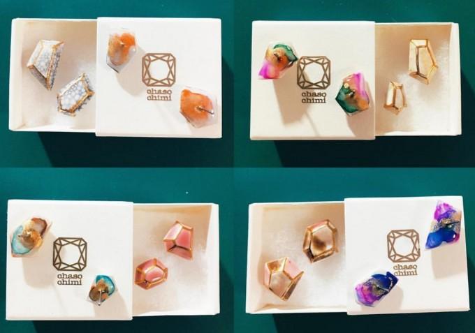 chasochimiちゃそちみジュエリーアクセサリー陶磁器樹脂ピアス指輪イアリングブレスレット