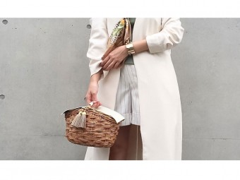 大人の女性にぴったりのかごバッグ。「À MON GOÛT(アモング)」 のバスケット