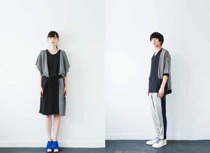 ファッションブランド「sneeuw(スニュウ)」の落ち着いた色合いのメンズとレディースコーデ