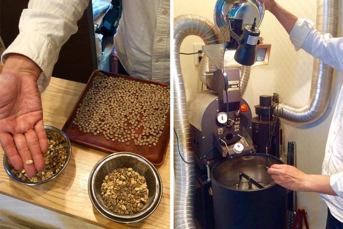 「珈琲丸」では注文後に豆を挽く