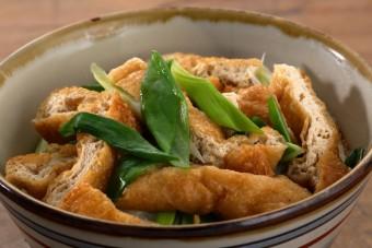 お腹に優しいヘルシー365レシピ「 きつね丼」の出来上がり写真