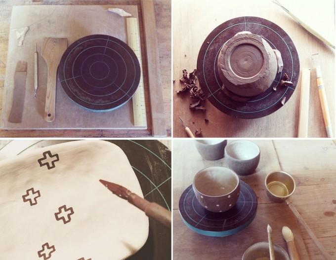 宇田令奈うつわ信楽焼食器皿ハンドメイド手び練り陶芸