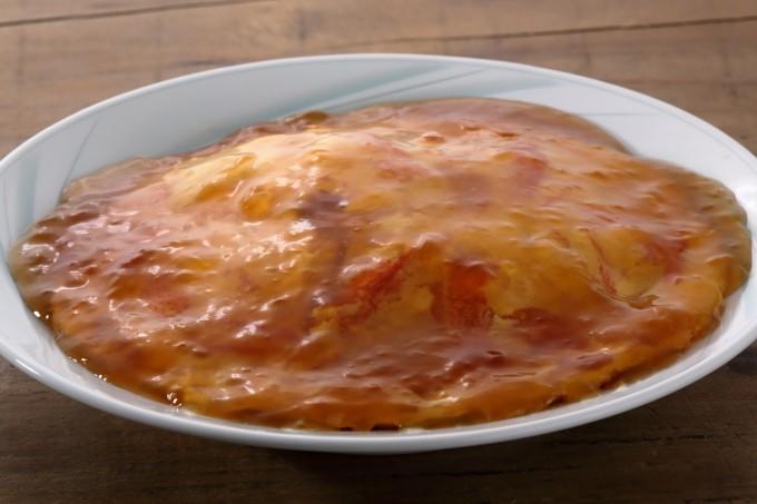 お腹に優しいヘルシー365レシピ「カニカマの天津丼」の出来上がり写真