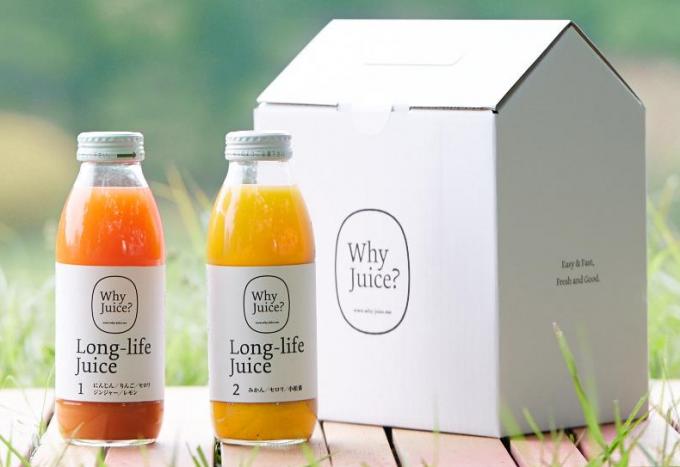 「Why Juice?」のフレッシュなジュース