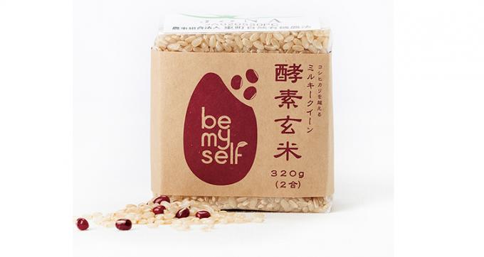 """「be my self」のオーガニック米""""ミルキークイーンの酵素玄米"""""""