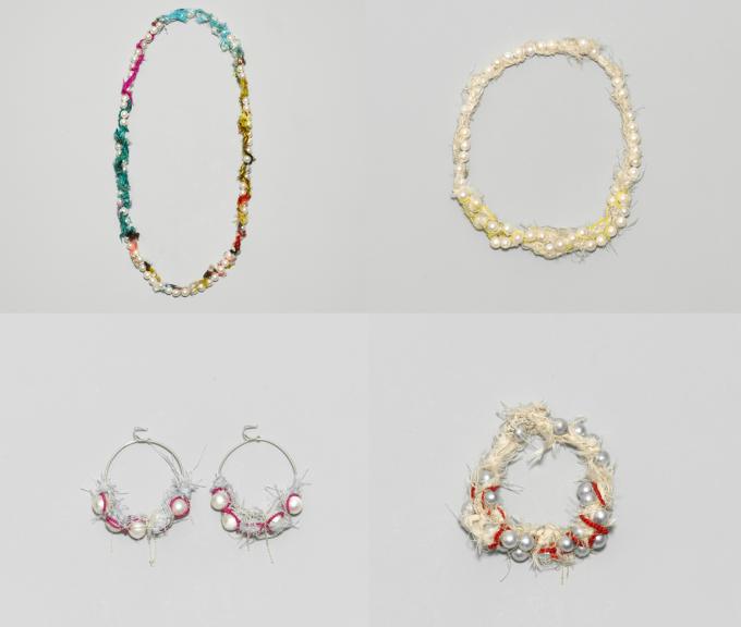 独自の感覚で組み合わされた色と素材。「Shingo Matsushita」の編むアクセサリー