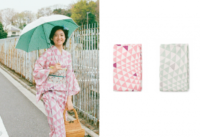 大塚呉服店の幾何学模様の浴衣