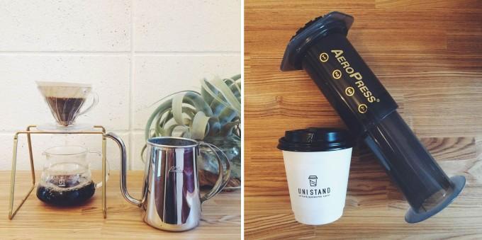 コーヒーと日本茶を愉しむ「UNI STAND」のコーヒー