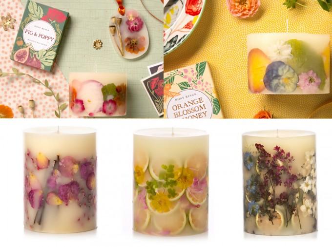 プレゼントにおすすめのお花のアロマキャンドル「ROSY RINGS」