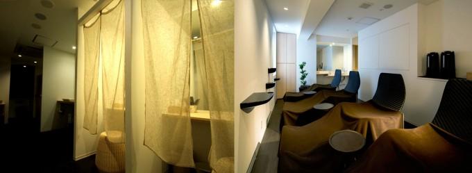 酵素浴後に入る休憩スペース