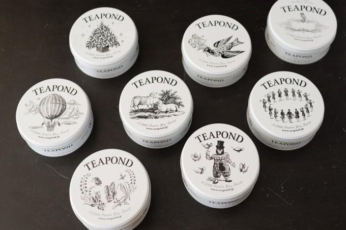 清澄白河にある紅茶専門店「TEAPOND」で販売している紅茶缶