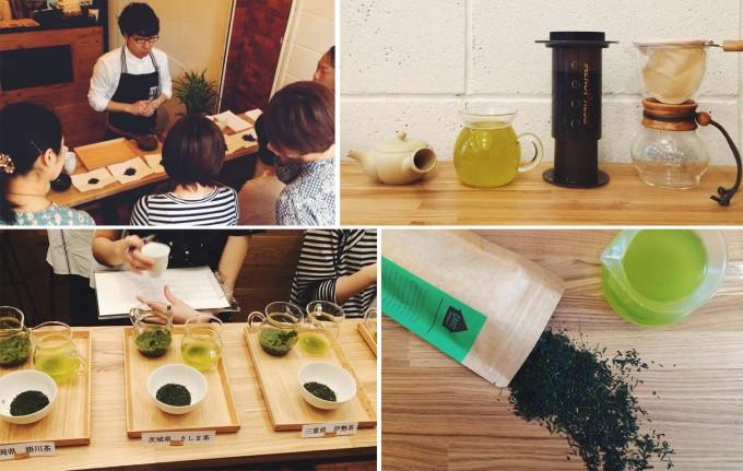 コーヒーと日本茶を愉しむ「UNI STAND」のワークショップ