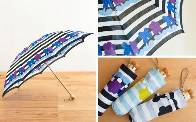 野花をイメージしたムーンバットとSOU・SOUの日傘