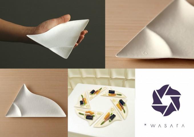 """""""WASARA皿""""は組み合わせると「WASARA(ワサラ)」のマークに。"""