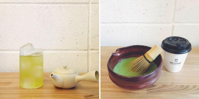コーヒーと日本茶を愉しむ「UNI STAND」の日本茶