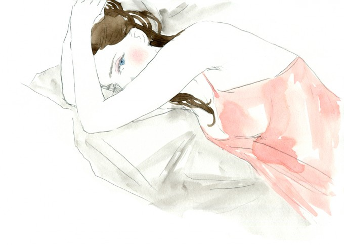 女性が描かれたおおやまゆりこさんのイラスト