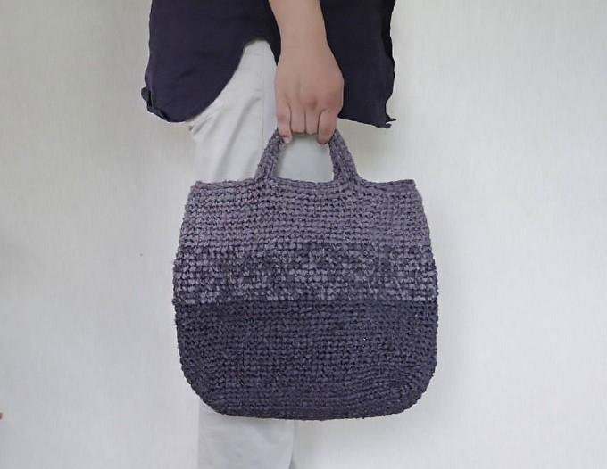 「KAWAMURA MIKI SAKIAMI BAG」の人気の裂き編みバッグ