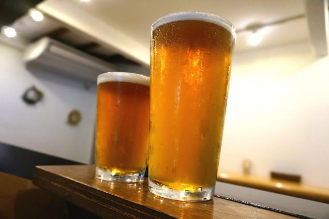 松陰神社のビアパブでは国産クラフトビールが豊富