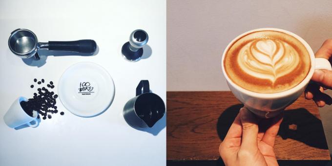 「100本のスプーン FUTAKOTAMAGAWA」のコーヒー