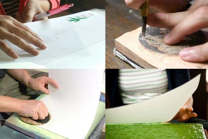 木版印刷の工程