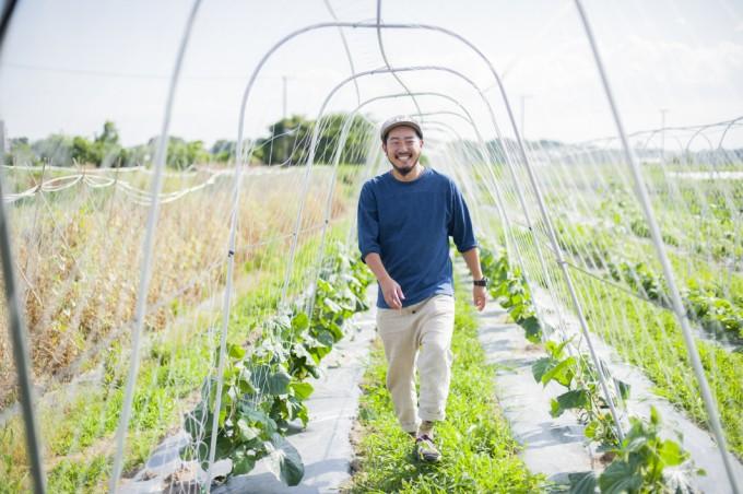化学肥料や除草剤を使わず、有機農法にこだわった畑