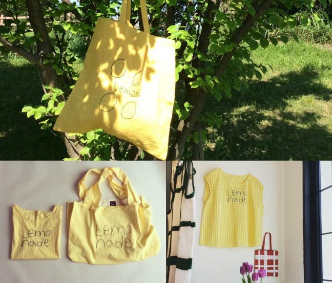 「pot and tea」のレモンモチーフのバッグやブラウス