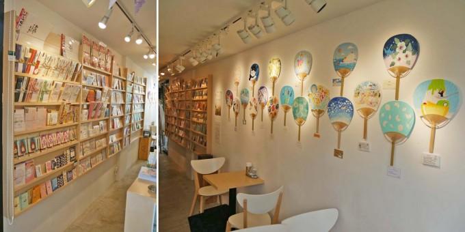 代々木VILLAGE、コンテナート店内、展示、アートなうちわ展、雑貨