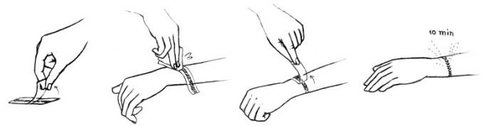 HAQUAの付け方はとても簡単な4ステップ