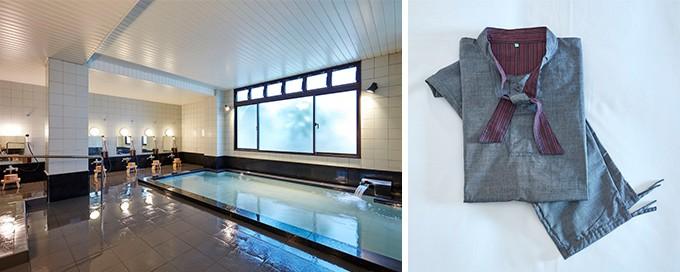 大浴場、和モダンなルームウェア