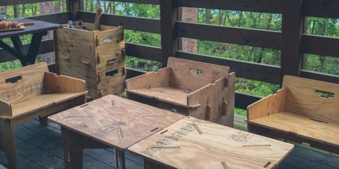 YOKA(ヨカ)の針葉樹合板ファニチャーシリーズ